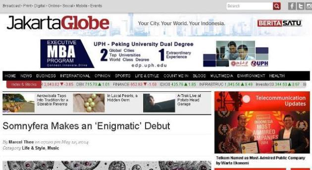 Somnyfera di The Jakarta Globe